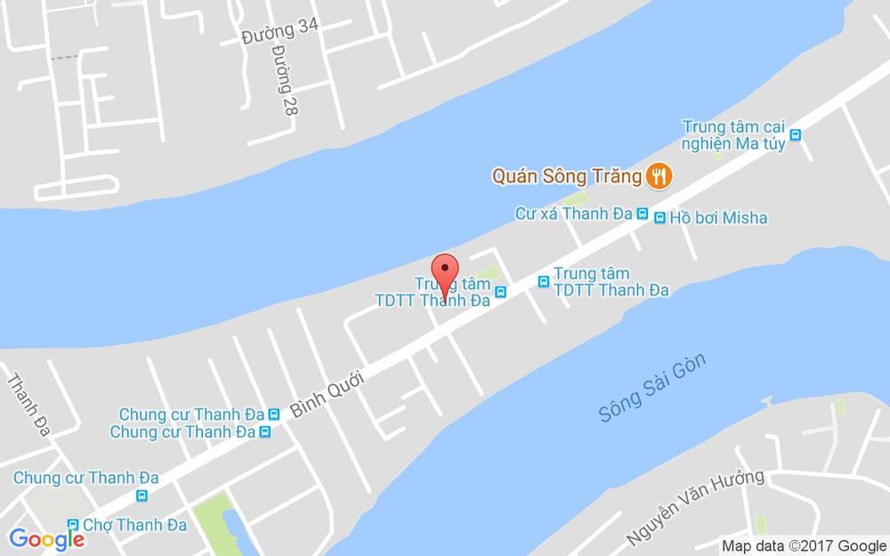 Vị trí bản đồ 185/8B Bình Quới, P. 28 Quận Bình Thạnh TP. HCM