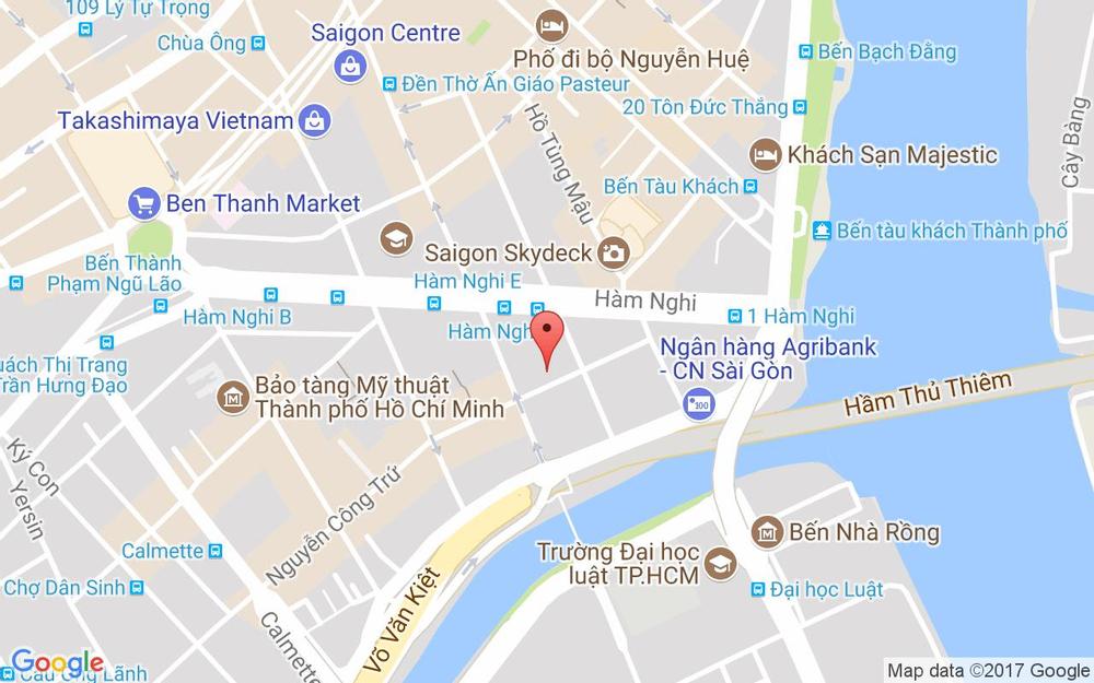 Vị trí bản đồ 58 Nguyễn Công Trứ Quận 1 TP. HCM