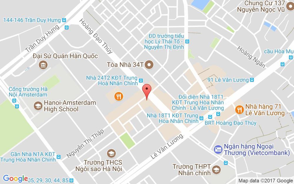 Vị trí bản đồ Tầng 1, Tòa N5D Hoàng Đạo Thúy Quận Thanh Xuân Hà Nội