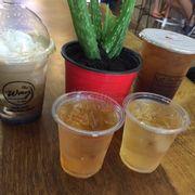 Kafe coco Dừa và Lắc trà Olong