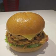 Burger gà quay