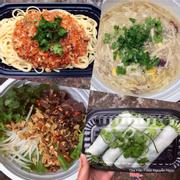 Mỳ Spaghetti : 30k - Soup Gà Ngô Nấm : 20k - Bún Bò Trộn Nam Bộ : 30k - Phở Cuốn : 60k/9c
