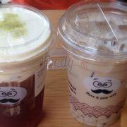 Oloong bọt sữa & trà sữa hokkaido trân châu trắng :>