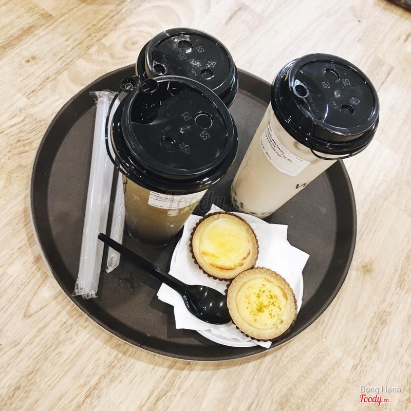 Trà sữa hokkaido size L - trà gạo rang size L và trà sữa kiều mạch size M