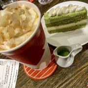 Affogato cà phê + Tiramisu green tea