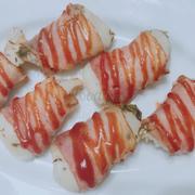 Bacon cuộn chẽm đút lò
