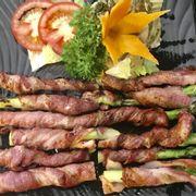 măng tây cuộn thịt xông khói nướng