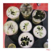 Những ly sữa tươi trân châu matcha kem cheese của pé:)) mãi iu mãi uống mãi ghiền