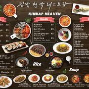 Menu Kimbap Heaven