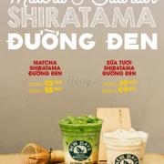 Matcha & Sữa tươi viên gạo đường đen