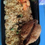 cơm chiên cá hồi + gà canjun