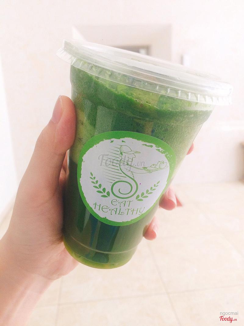 sinh tố rau xanh