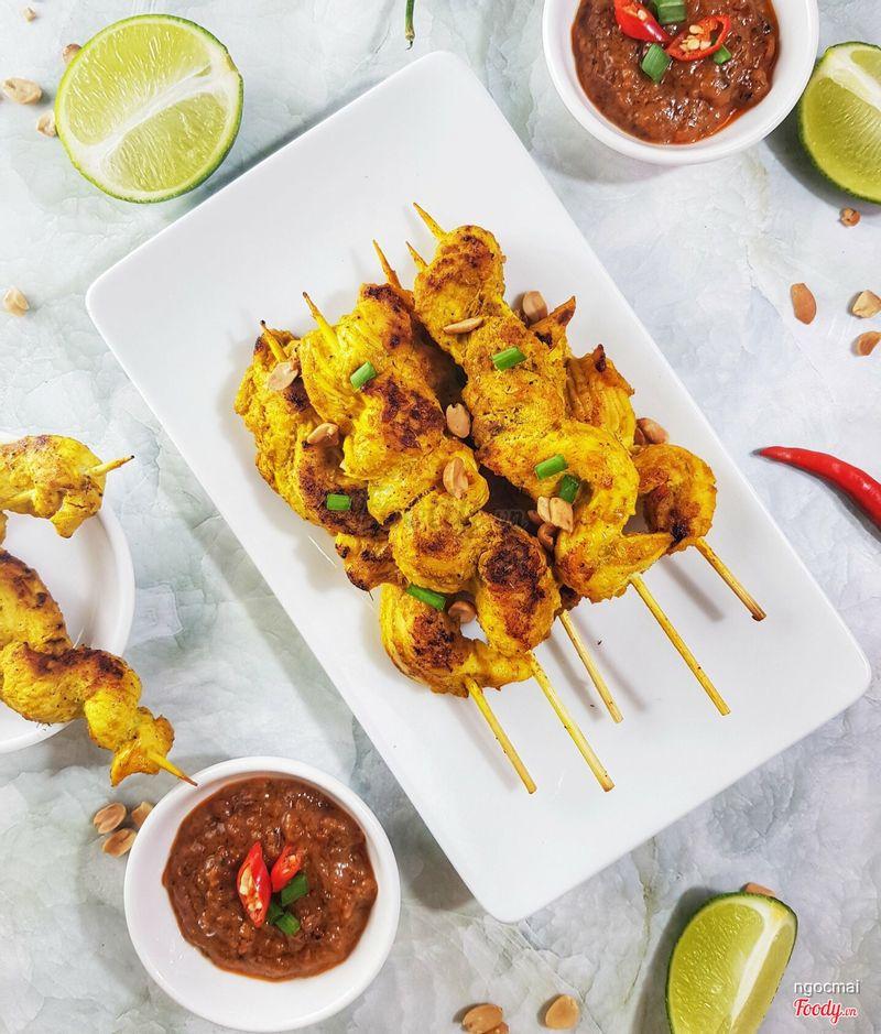 gà nướng satay kiểu Thái