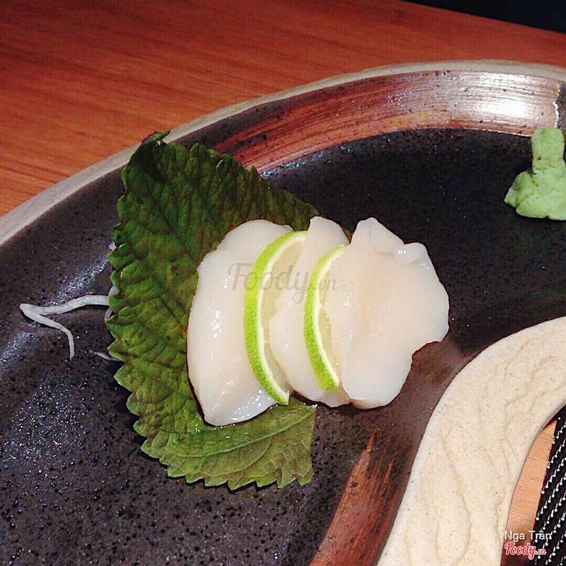 Sashimi cồi sò điệp Nhật