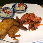 Cánh gà, kimchi