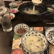 Cháo cá trứng bắc thảo