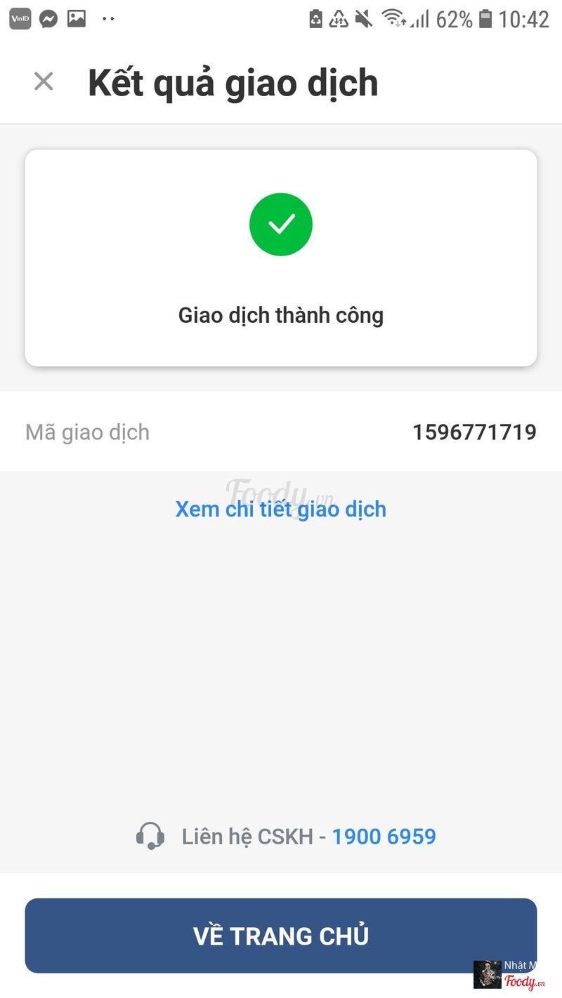 Thanh toán qua app VinID