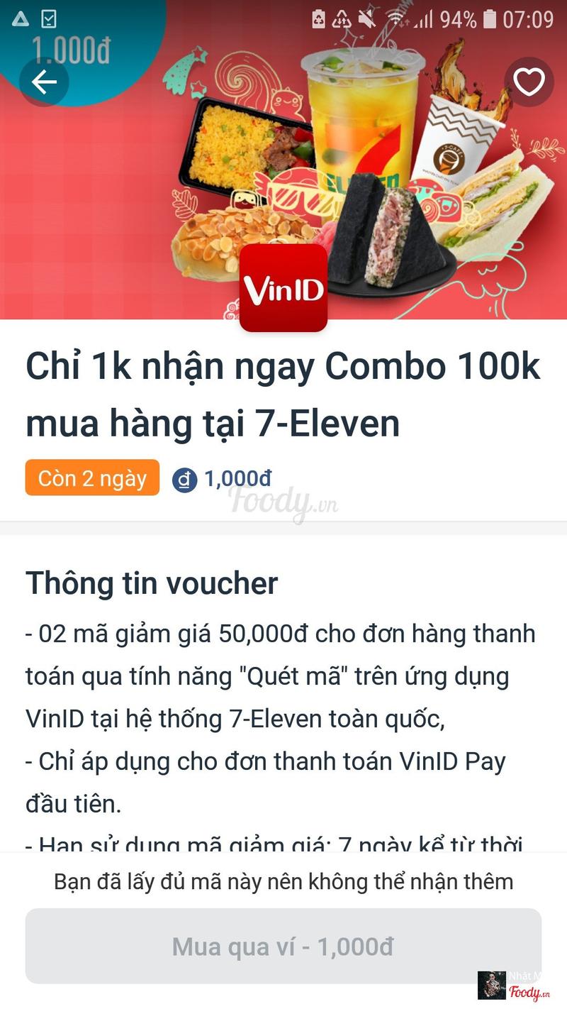 Ưu đãi của app VinID