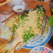 cá nướng mỡ hành