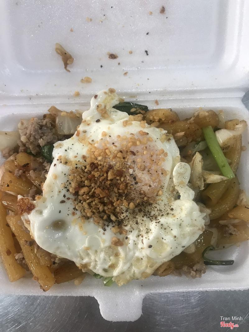 Đây là nui thịt bầm trứng mình order trên now món lạ cũng chưa từng thấy quán nào có bán nui mềm vừa miệng nói chung ngon thịt bầm quyện chung với nui + rau