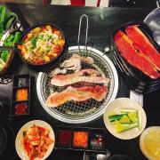 Combo nướng + tokbokki hải sản
