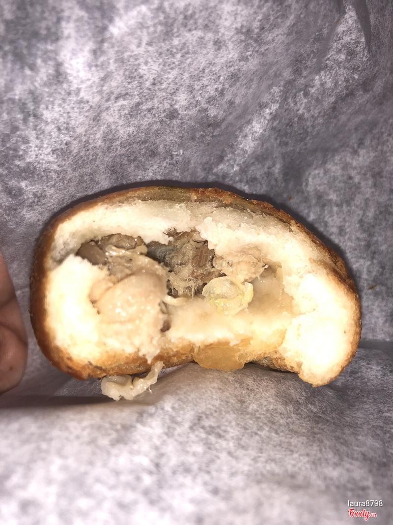 Bánh bao chiên thịt heo qay xông khói