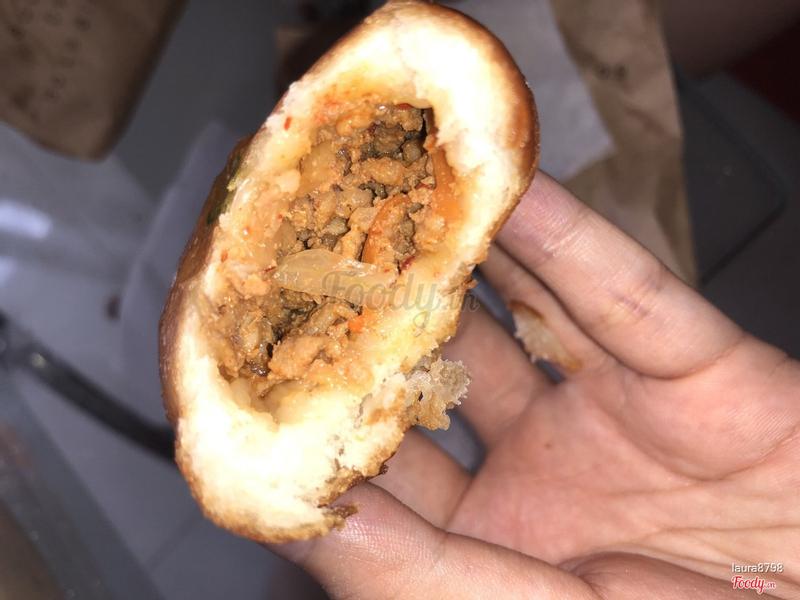 Bánh bao chiên thịt heo kim chi
