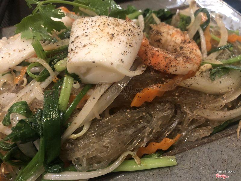 Miến xào hải sản
