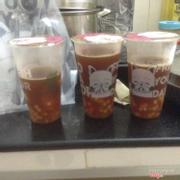 3 ly trà mình nhận được