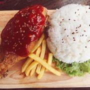 Cơm gà sốt cay Hàn Quốc
