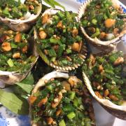 Sò dương nướng mỡ hàng
