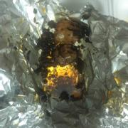 Ba chỉ nướng toàn dầu và tỏi cháy
