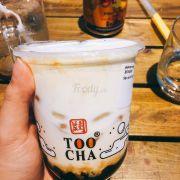 Sữa tươi machiato trân châu đường đen ❤️ Lớp trên béo vô cùng mà ngon nhức nách :))) trân châu mềm dai ngon 😘 uống thích hơn bên The Alley 😘