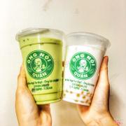 Trà sữa thái xanh + dừa dầm