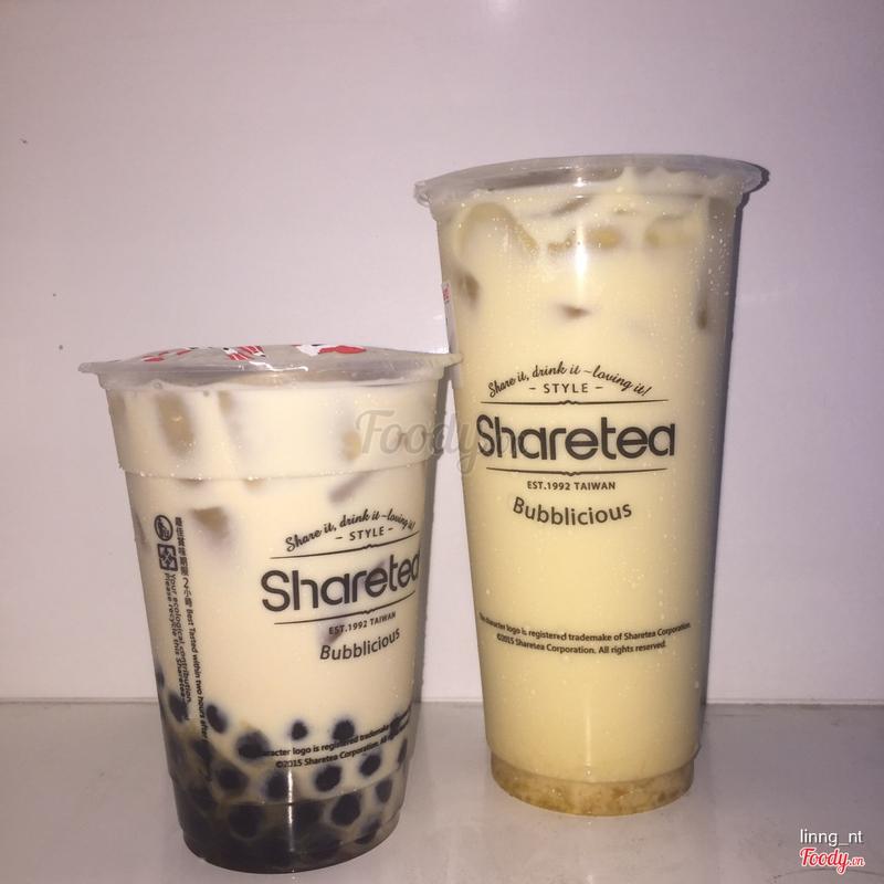 Boba fresh milk (M) & Mango green milk tea (L)
