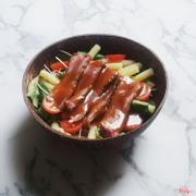 Pasta salad bò nấm (sốt BBQ)