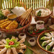 Vietnamese Traditional Food - Đặc sản Ẩm Thực Việt Nam Đặc Sắc - Bánh Xèo- Nem Lụi - Bánh Cuốn - Cơm Truyền Thống - Trà - Hoa Sen