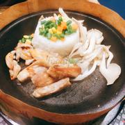 Cơm bò nấm (chưa trộn)