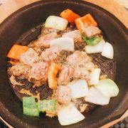Bò lúc lắc quên khoai tây (ko có sốt ăn kèm bánh mì)