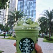Green tea yogurt frappuccino size Grande