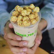 Trà sữa mật ong mix bỏng ngô