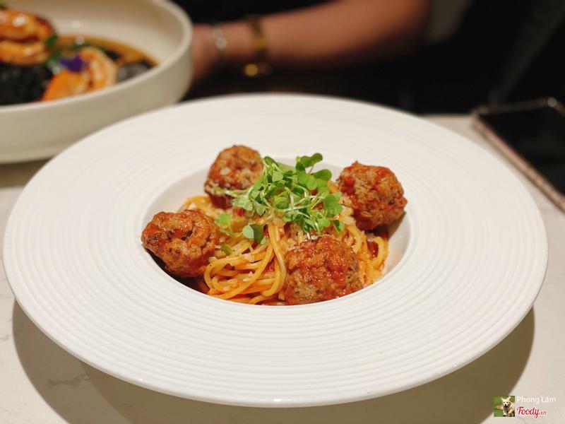 Mì spaghetti thịt viên