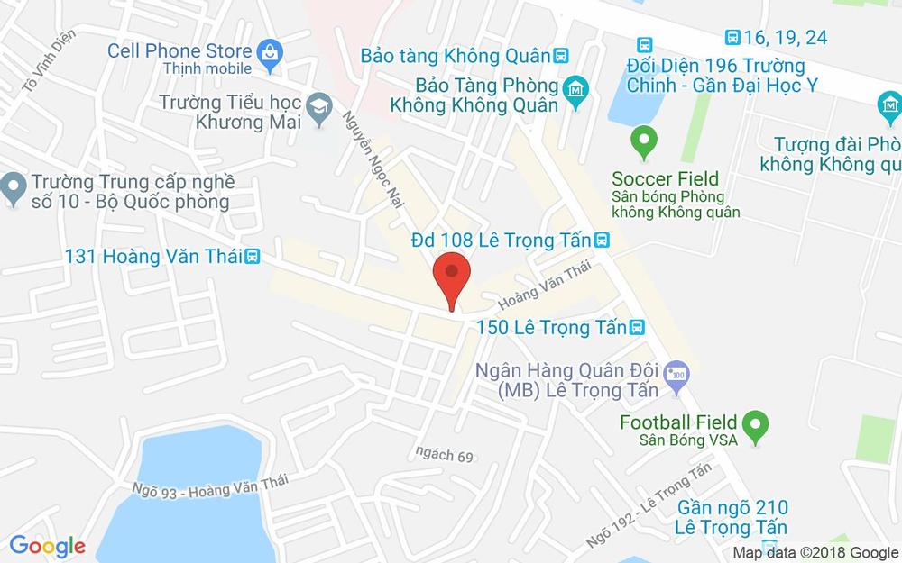 Vị trí bản đồ Số 4 Ngõ 71 Hoàng Văn Thái Quận Thanh Xuân Hà Nội