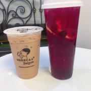 Trà dâu nam mỹ + trà sữa