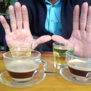 Twin cà phê sữa nóng