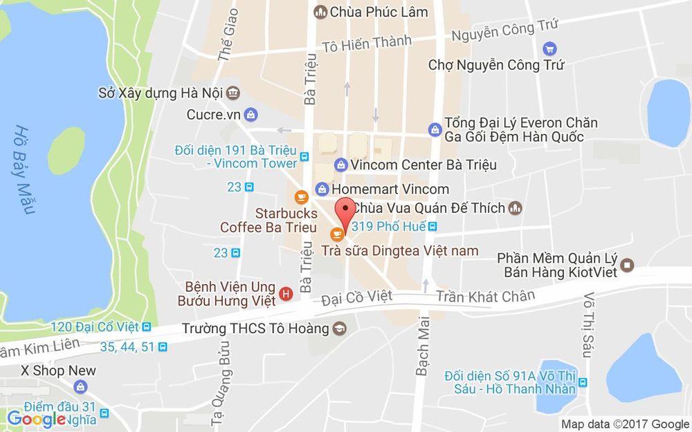 Vị trí bản đồ Phở Lý Quốc Sư - Lê Đại Hành ở Hà Nội