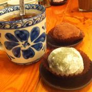 Mochi chocolate và mochi việt quất