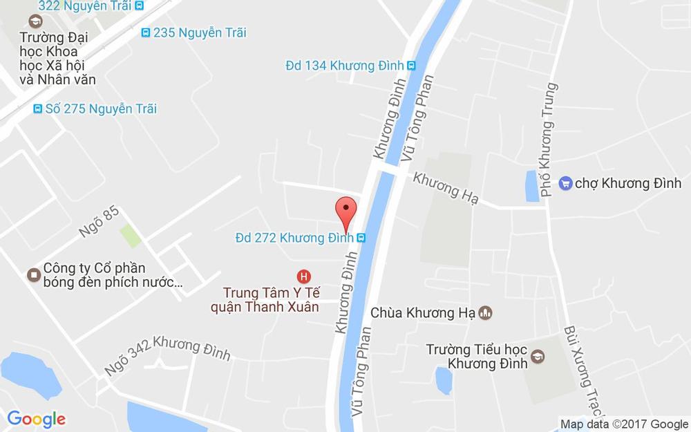 Vị trí bản đồ 282 Khương Đình Quận Thanh Xuân Hà Nội
