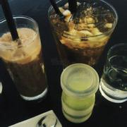 milk coffee, panna vị matcha, apple tea