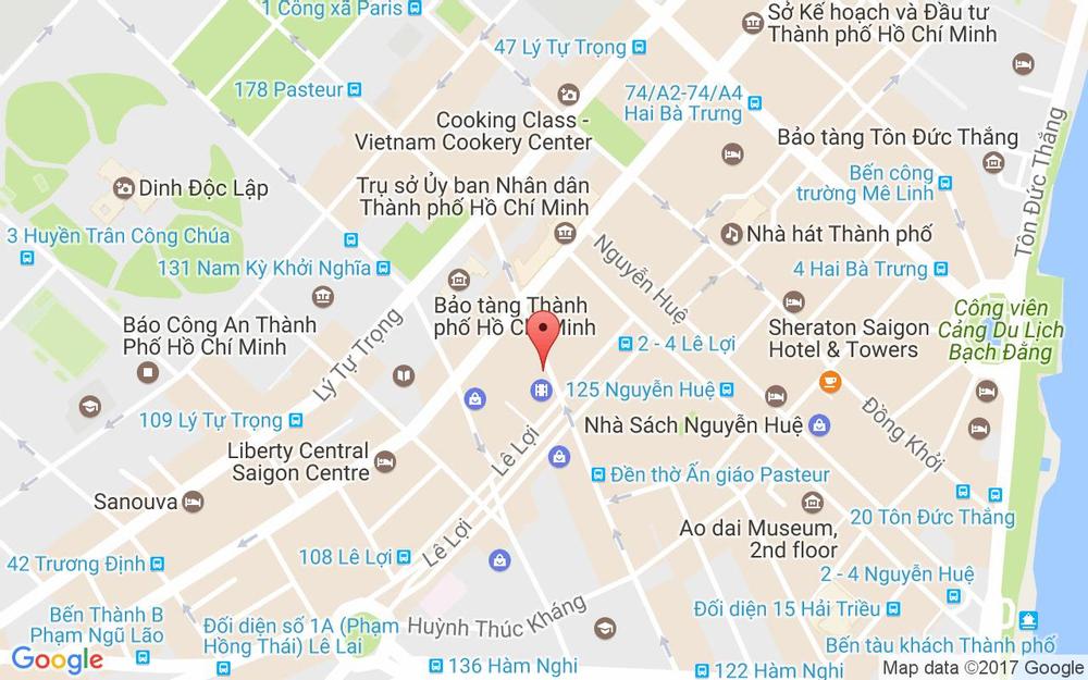 Vị trí bản đồ 134 Pasteur Quận 1 TP. HCM